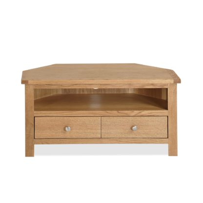 An Image of Bromley Oak Corner TV Stand Natural