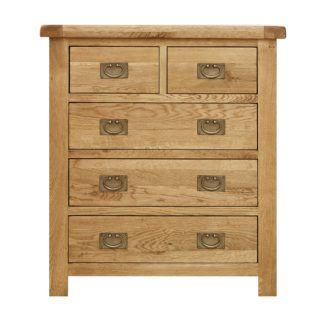 An Image of Aylesbury Oak 5 Drawer Chest Light Natural