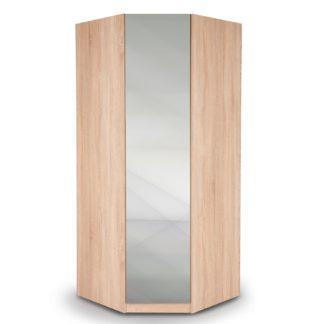 An Image of Kew Mirrored Corner Wardrobe Brown