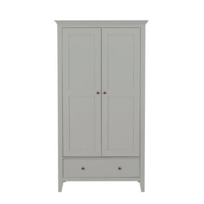 An Image of Lynton Grey Gents Wardrobe Grey