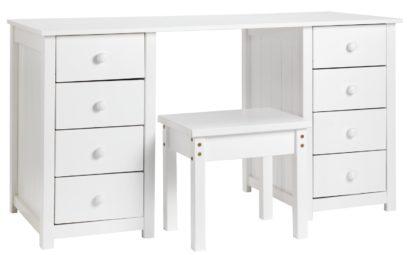 An Image of Habitat New Scandinavia Dressing Table - White
