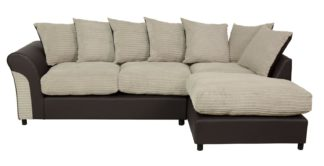 An Image of Argos Home Harry Large Right Corner Fabric Sofa - Natural