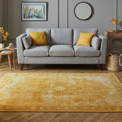 An Image of Mila Traditional Rug Yellow
