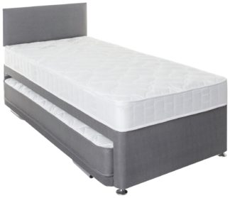 An Image of Argos Home Bertrum Trundle Single Guest Bed - Grey