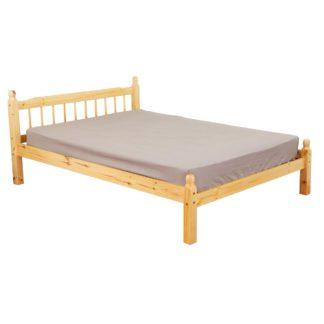 An Image of Pamela Honey Oak Wooden Bed Frame Natural