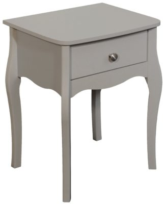 An Image of Amelie 1 Drawer Bedside Table - Grey