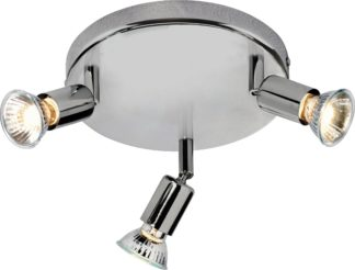 An Image of Argos Home Cromer 3 Spotlight Ceiling Plate - Silver
