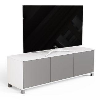 An Image of Frank Olsen 3 Door TV Unit - White & Grey