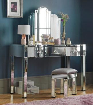 An Image of Argos Home Canzano 3 Drawer Dressing Table - Mirror