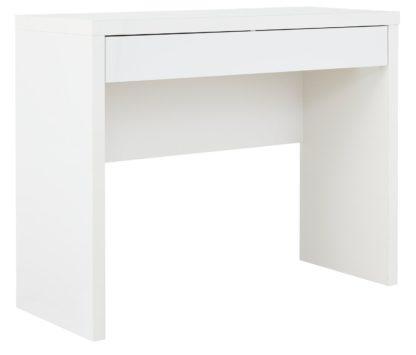 An Image of Habitat Jenson Dressing Table Desk - White Gloss