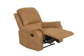 An Image of Argos Home Alfie Faux Leather Manual Recliner Chair - Brown