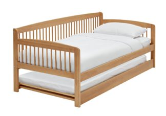 An Image of Argos Home Andover Day Bed w/ Trundle & 2 Mattresses - Pine