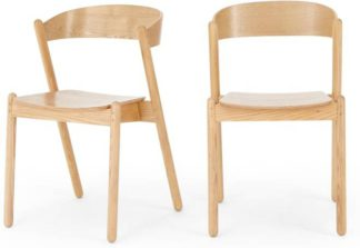 An Image of Set of 2 Yaunti Dining Chairs, Ash