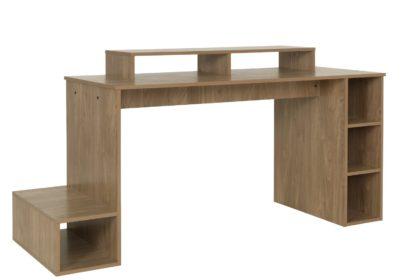 An Image of Argos Home Gaming Desk - Oak Effect