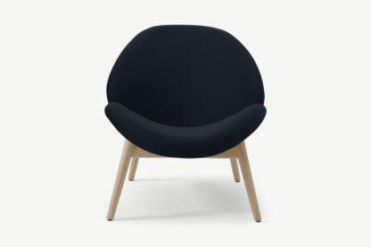 An Image of Laluni Accent Armchair, Twilight Blue Velvet