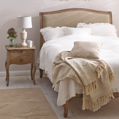 An Image of Amelie Upholstered Bedstead Brown