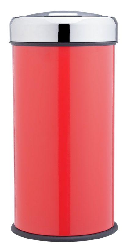 An Image of Argos Home 30 Litre Round Kitchen Press Top Bin - Red