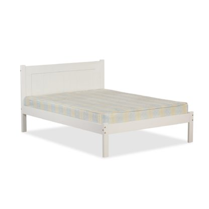 An Image of Clifton White Wooden Bed Frame White