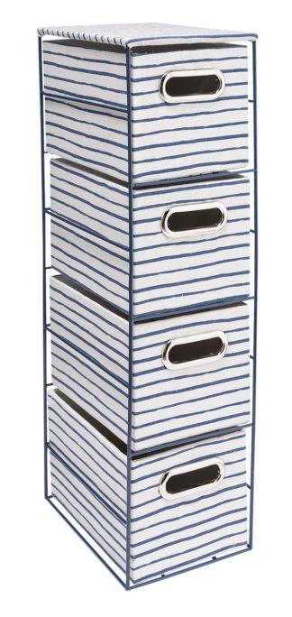 An Image of Argos Home Slimline Coastline 4 Draw Storage Tower