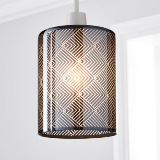 An Image of Agata Smoked Easy Fit Pendant Blue