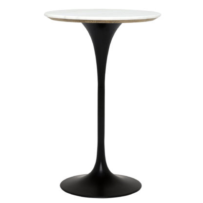 An Image of Talula Bar Table, Shiny White Marble