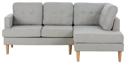 An Image of Habitat Joshua Right Corner Fabric Sofa - Charcoal