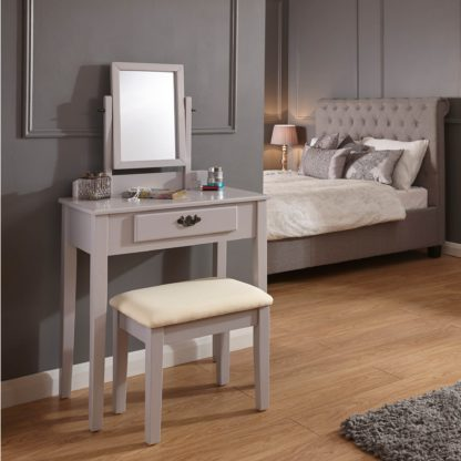An Image of Shaker Grey Dressing Table Set Grey