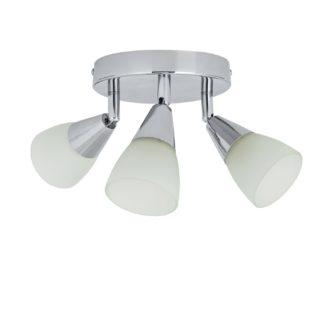 An Image of Argos Home Curico 3 Light Spotlight Plate - Chrome