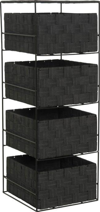 An Image of Argos Home 4 Drawer Storage Unit - Jet Black