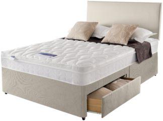 An Image of Silentnight Auckland Kingsize 4 Drawer Divan Bed - Natural