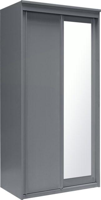 An Image of Argos Home Hallingford Grey 2 Door Sliding Mirrored Wardrobe