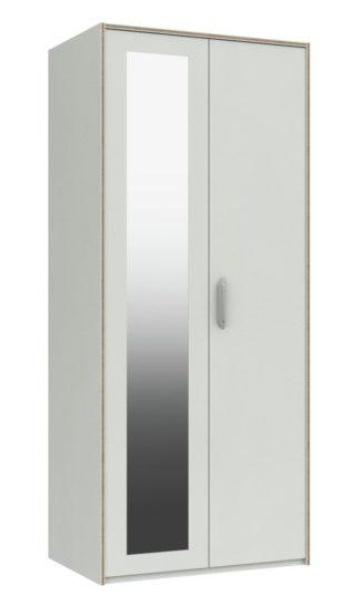 An Image of Ashdown 2 Door Mirror Wardrobe - White