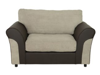 An Image of Argos Home Harry Fabric Cuddle Chair - Natural