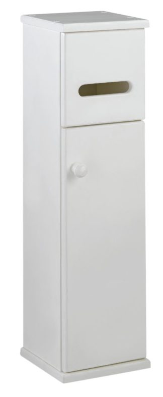 An Image of Argos Home Toilet Roll Holder and Storage Cupboard - White