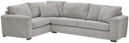 An Image of Habitat Eton Left Corner Fabric Sofa - Grey