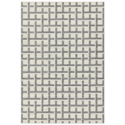An Image of Asiatic Antibes In & Outdoor Rectangle Rug -120x170cm - Grey