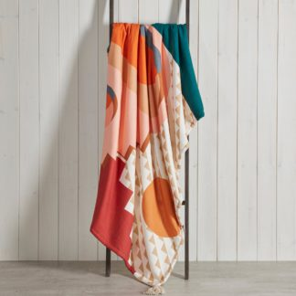 An Image of City Scene Sherpa Reversible Polycotton Throw MultiColoured