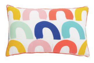 An Image of Argos Home Rainbow Arch Play Cushion - Multicoloured