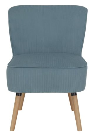 An Image of Habitat Eppy Fabric Accent Chair - Blue
