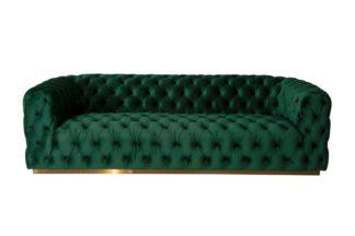 An Image of Frankfurt Three Seat Sofa - Bottle Green