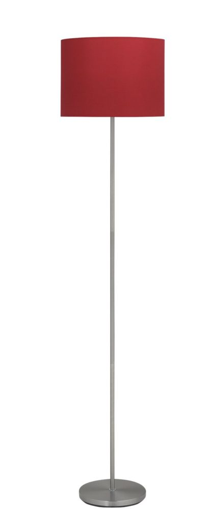 An Image of Argos Home Satin Stick FLoor Lamp - Red