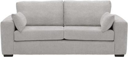 An Image of Habitat Eton 3 Seater Fabric Sofa - Black
