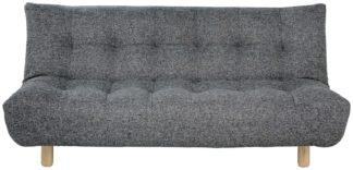 An Image of Habitat Kota 3 Seater Fabric Sofa Bed - Black and White