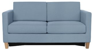 An Image of Habitat Rosie 2 Seater Fabric Sofa Bed - Pale Blue