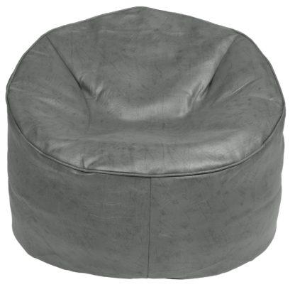 An Image of Habitat Faux Leather Bean Bag - Dark Brown