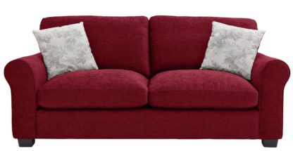 An Image of Argos Home Tammy 3 Seater Fabric Sofa - Wine