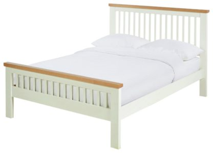 An Image of Argos Home Aubrey Superking Bed Frame - Two Tone Grey