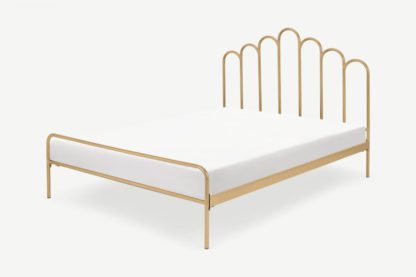 An Image of Kiruna King Size Bed, Brass
