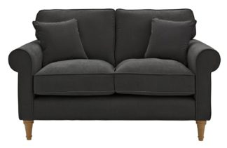 An Image of Habitat William 2 Seater Fabric Sofa - Charcoal