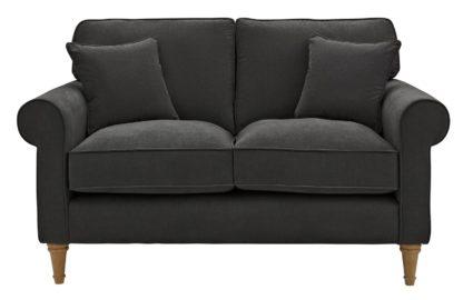 An Image of Habitat William 2 Seater Fabric Sofa - Charcoal
